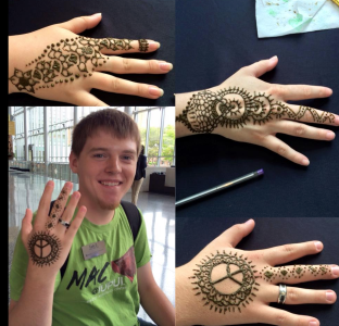 Beautiful artwork at our Henna fundraiser!